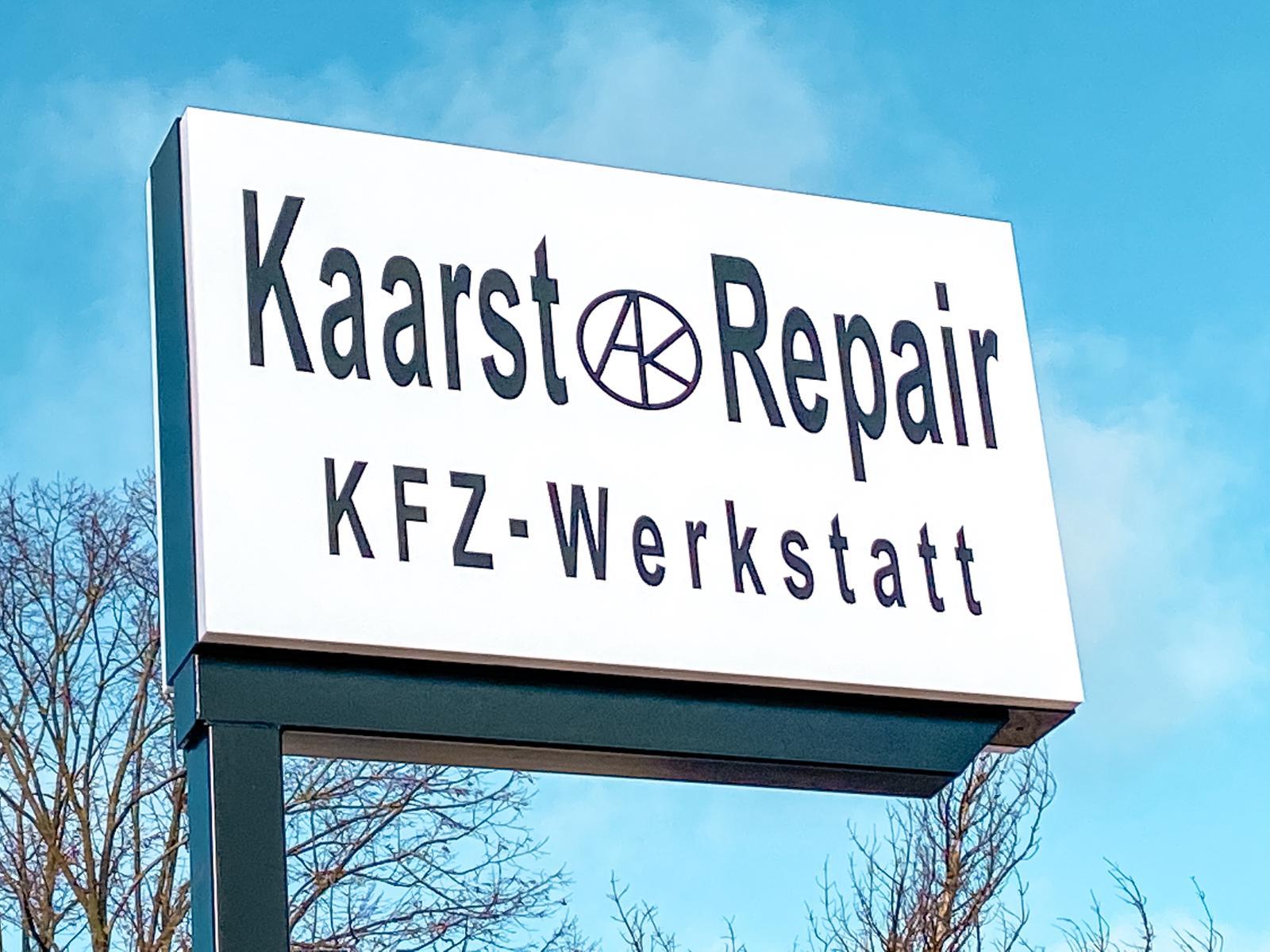 Kaarst Repair Schild